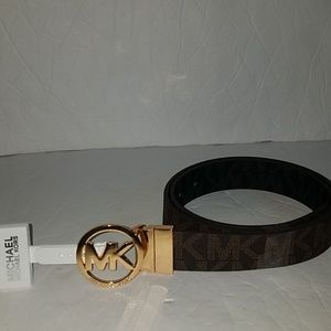 Michael kors womens monogram belt big logo